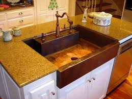 Best Granite Kitchen Sinks Kitchen Antique Copper Sink Kitchen Design With Brown Single