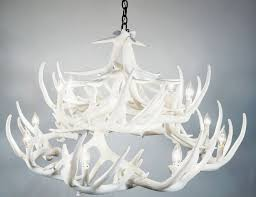 pure white whitetail 24 cast antler chandelier