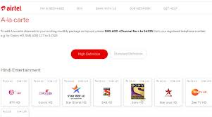Airtel Rate Chart Airtel Hathway Dish Tv Release Prices For Channels After
