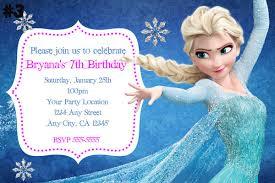Frozen Birthday Invitations Wording