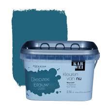 Karwei Kleuren Van Nu Muurverf Mat Diepzeeblauw 25 L Verfkleuren