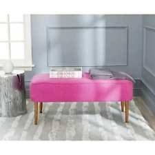 living room bench seat. entryway bench seat pink fabric wood bedroom settee living room furniture dining