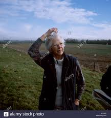 Farmers cottage owner Joyce Lane at the Papley farm self catering Stock  Photo - Alamy