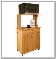 movable wood microwave stand with large shelf and single cabinet unit a  unit of coffee maker
