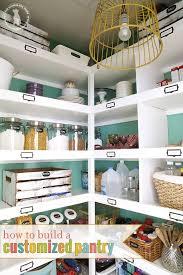 build easy pantry shelves