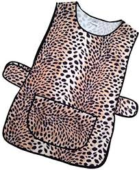 Print Home Work Hduk Top Quality Ladies Animal Print Home Work Tabard Apron With