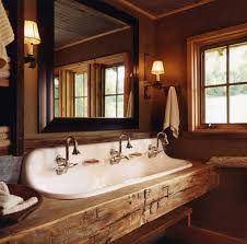 Most bathroom sinks are made of ceramic, a high quality material that will last a long time in your bathroom. Rustic Bathroom Sinks Cowgirl Magazine