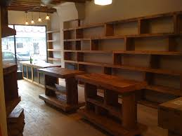furniture clothing display racks best of wood shelving up the wall pos counter reclaimed wood