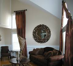 Windows Treatment For Living Room Tall Window Treatments Living Room Eclectic With Arch Window
