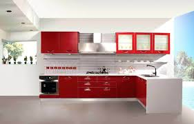 red and white kitchen cabinet red and white kitchen cabinets fine on kitchen  regarding red and
