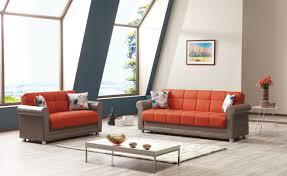 Orange Couch Living Room Avalon Prusa Orange Sofa By Casamode