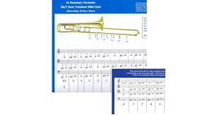 Bb F Tenor Trombone Chromatic Slide Chart 4 Clefs