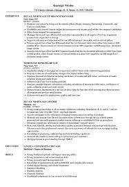 Retail Mortgage Resume Samples Velvet Jobs