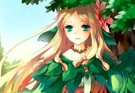 anime female blond dress gown green eyes blonde blonde