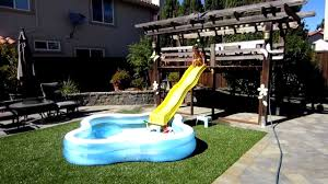 beat water slide for above ground pool