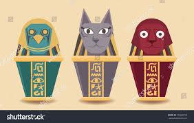 Canopic Jar Designs Canopic Jar Sphinx Egyptcute Canopic Jar Stock Vector