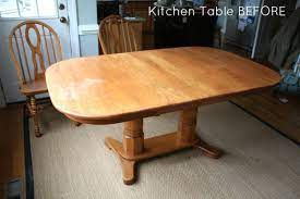 how to refinish a table sand and sisal