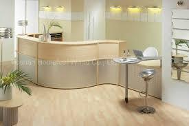 Medical Office Reception China Modern Curved Mfc Oak Medical Reception Desk Hf R019
