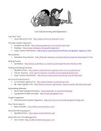 Tech Tools for Writing and Organization Handout