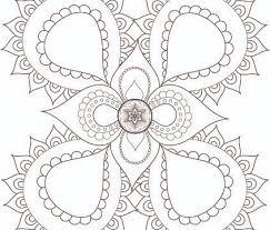 Jewish Soul Boho Mandala Healing Meditative Art Coloring Page