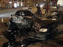 Дорожно транспортное происшествие Википедия ДТП в Донецке Два человека погибли