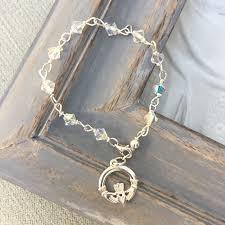 claddagh swarovski crystal rosary bracelet 40366 p png
