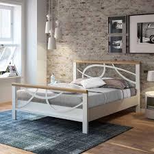 Mit Metallbett Teppich Schlafzimmer Bettumrandung Schwarzem Set