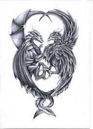 Můj Fler Tetování Draka A Fénixe