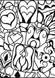heart design coloring pages. Contemporary Coloring Abstract Heart Patterns Coloring Page And Design Coloring Pages E