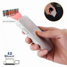 1D 2D Qr Barkod Tarayıcı Taşınabilir Mini Bluetooth 4.0 Barkod Okuyucu Ile  Çalışmak Cep Telefonları, Tablet,