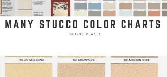 Exterior Stucco Color Chart 6 Of The Most Popular Stucco Color Charts All In One Place