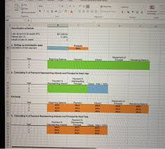 5 Year Amortization Schedule Excel Solved Excel Online Structured Activity Amortization Sch