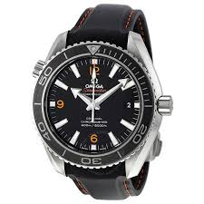 omega seamaster planet ocean automatic black dial leather men s omega seamaster planet ocean automatic black dial leather men s watch 232 32 42 21 01 005