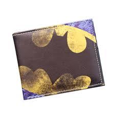 vintage designer anime wallet cartoon batman bat wallet 2 fold leather wallet slim card holder bag