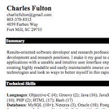 Charles Fulton resume