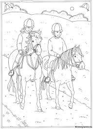 Kleurplaat Paarden Manege Tropicalweather