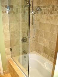 glass tub enclosures pivot door hinged enclosure photos a panel doors frameless bathtub frosted bathroom en