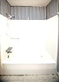kohler one piece tub shower combo and bathtub showers s aqua glass