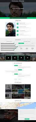 Personal Resume Website Templates Free Download Inspirational Best
