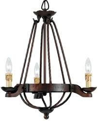 bronze hand forged wrought iron chandelier