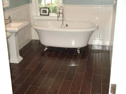 dark wood tile bathroom floor look ceramic home ti