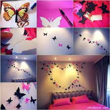 Wonderful How To Decorate Bedroom With Handmade Things View In Gallery How To  Butterfly Wall Decoration Bright