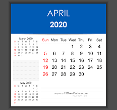 April 2020 Template Editable April 2020 Calendar Template