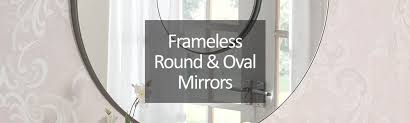 frameless oval wall mirrors