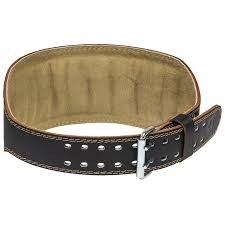 Harbinger Padded Leather Contoured Weightlifting Belt With Suede Lining And Steel Roller Buckle 6 Inch Xx Large