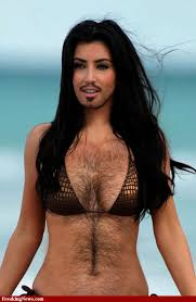 Hairy woman in the world