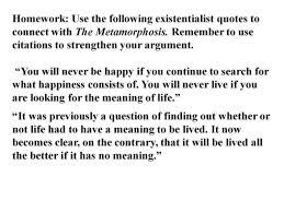 Metamorphosis Quotes Simple Existentialism