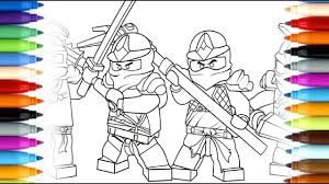 Lego Ninjago Movie Coloring Pages Kai Printable Coloring Page For Kids