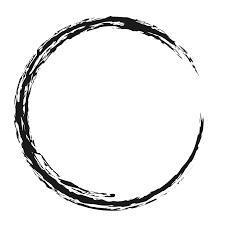 和風の円形フレーム00874の無料イラスト