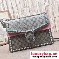gucci 403348. gucci dionysus gg supreme medium shoulder bag with crystals 403348 pink 2017 (1b77-7090101 a